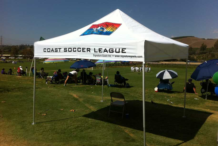 10X10 TEAM SOCCER TENT & TEAM TENTS - Tentcraft