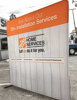 An event backdrop created for Home Depot.