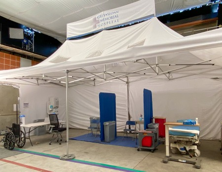 custom 13x26 mobile field hospital medical tent for Grey's Anatomy