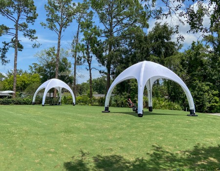 inflatable golf training tents for quick deploy and easy setup