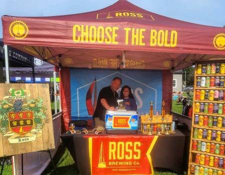 custom pop up canopy for outdoor beer festival for Ross Brewing Company