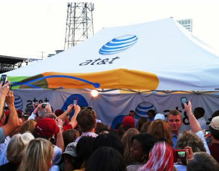 AT&T Wireless Music Pop-Up Tent