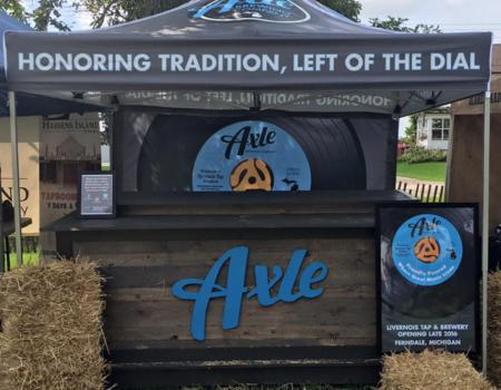 Axle Brewery Pop-Up Tent
