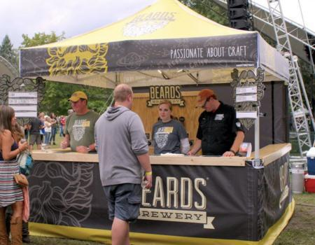 Beards Brewery Custom Festival Setup