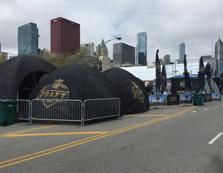 Branded Inflatable Tents for NFL Draft
