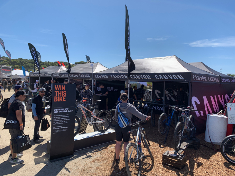 custom event tent examples branded for Canyon Bikes event marketing team