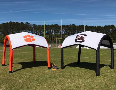 College Sports Teams Inflatable Setup