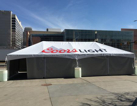 Coors Light Branded 20x40 Frame Tent
