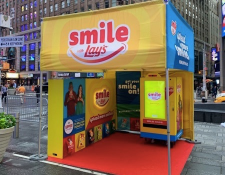 custom 10x10 pop-up event tent for Lays Potato Chip activation