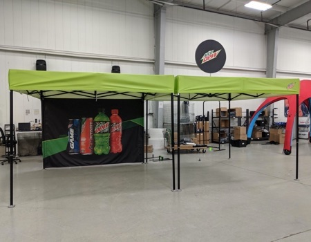 Heavy duty 10x10 beverage pop up tent