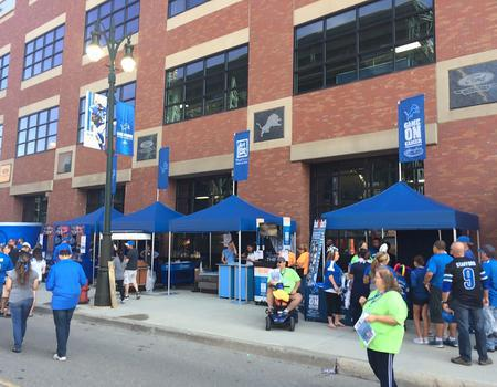 Detroit Lions Vendor Tents