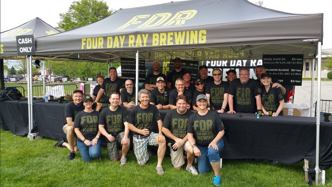 10x20 heavy duty beer tent customized for Four Day Ray Brewing festival sampling