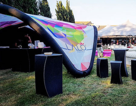 example of a custom inflatable event tent for an outdoor festival