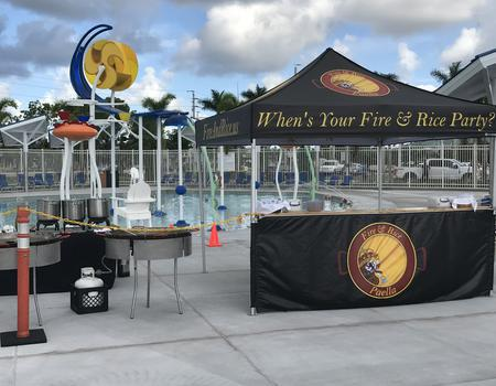 professional concession tent with custom printing