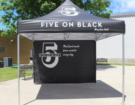 Five on Black Grill Pop-Up Food Setup