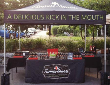 Furious Sauces Custom Sampling Tent