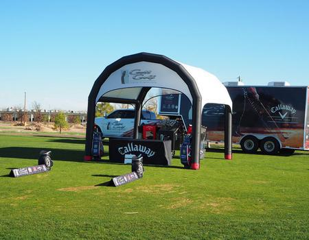 Golf Course Product Demo Tent Display