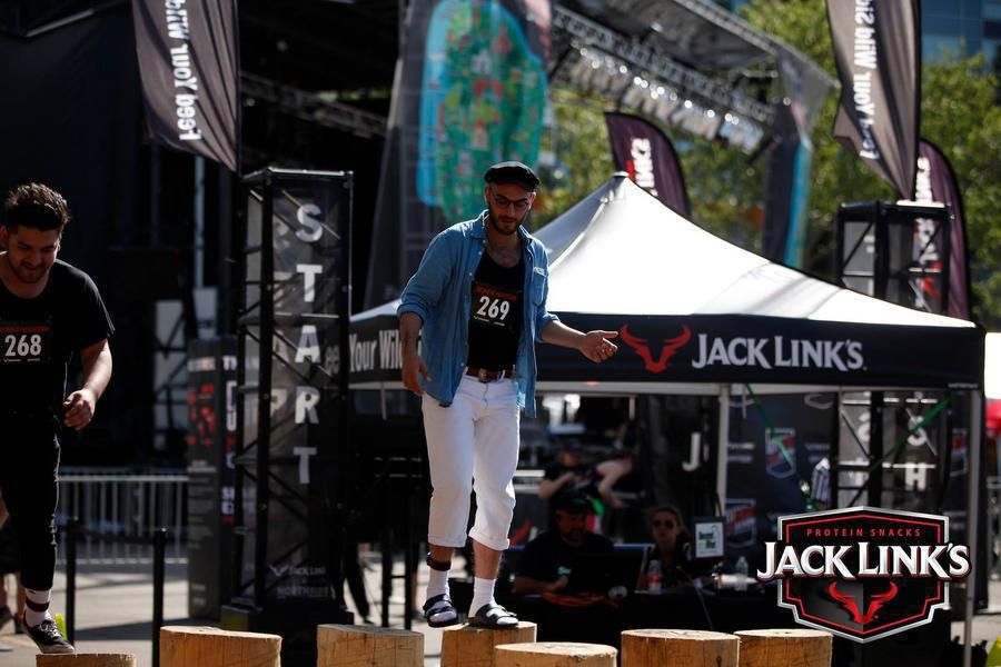 custom pop up tent and event assets for Jack Links event