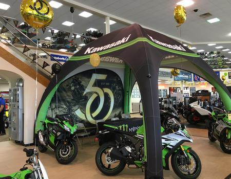 Kawasaki Inflatable Tent for Dealerships