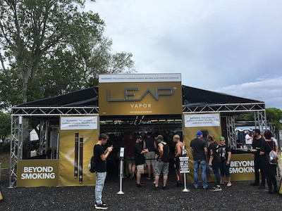 A festival truss tent made for e-cigarette brand.