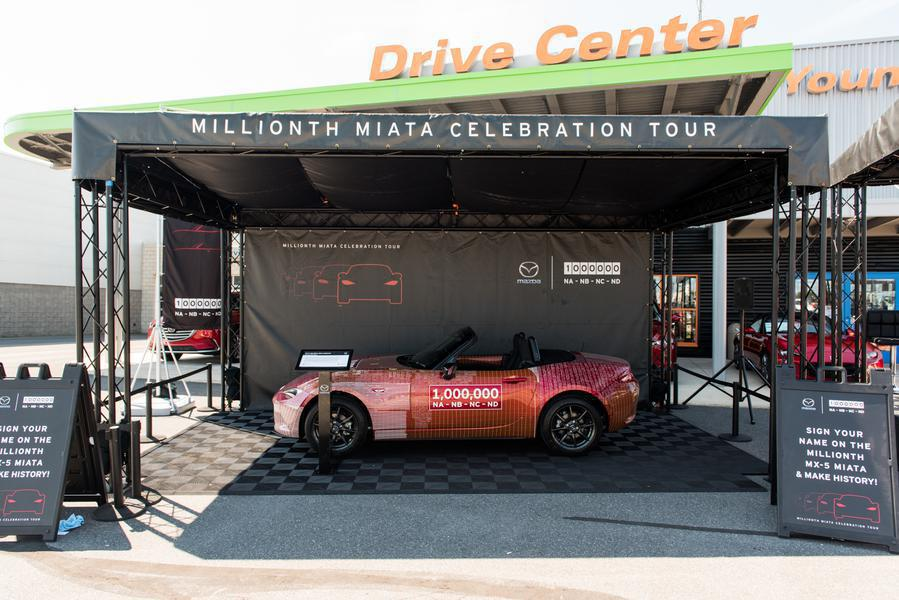 custom truss display and event signage MIllionth Miata Celebration Tour