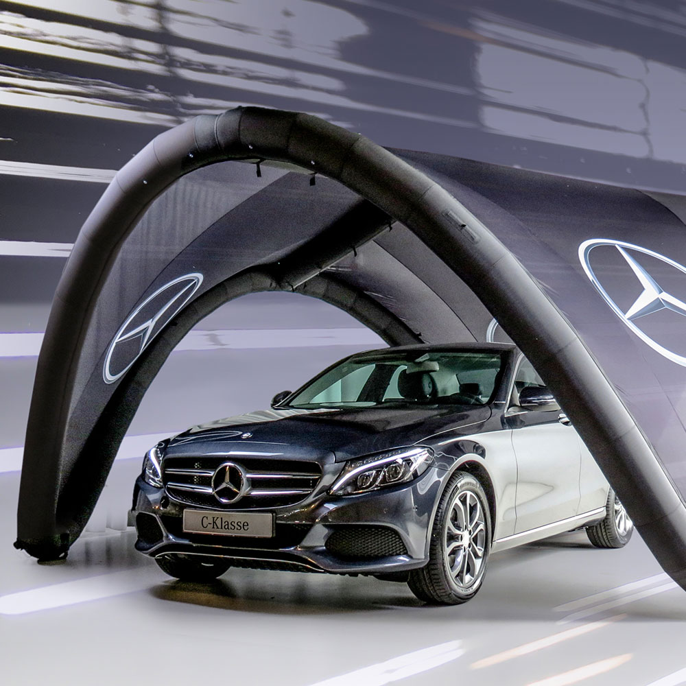Mercedes Benz Signus Inflatable Tent.