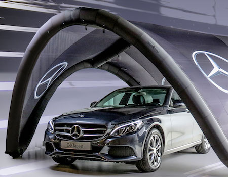 Mercedes Benz Signus Inflatable Tent