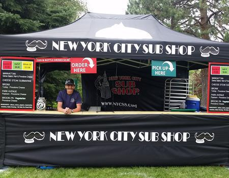 custom 10x20 pop up tent for NY City Sub Shop mobile selling