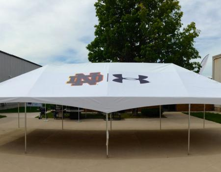 Notre Dame and Under Armor Frame Tent