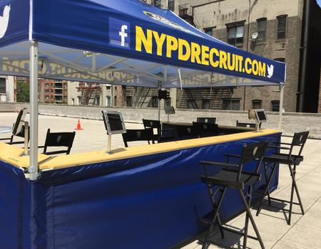 NYPD Recruit Pop-Up Tent
