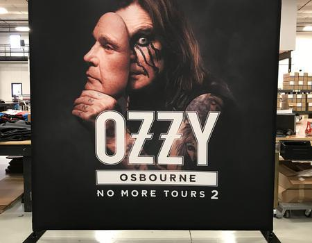 large media backwall made for Ozzy Osbourne concert