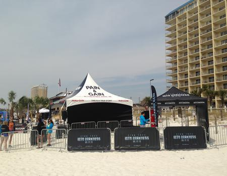 example of a commercial grade 20x20 tent and custom event signage