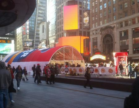 Quaker Oats Times Square Product Sampling Setup