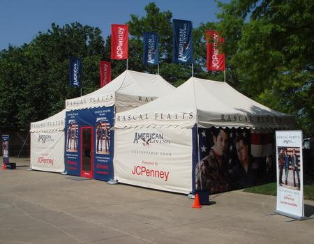 Custom printed tent walls for Rascal Flatts tour.