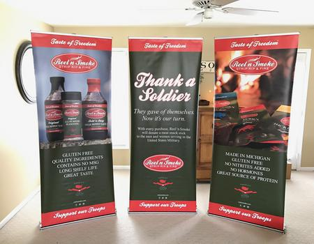 Reel n Smoke Retractable Banner