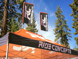 10x20 full digital printed canopy and peak flags for bicycle event