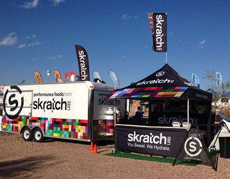 Skratch Labs Event Marketing Tent Setup