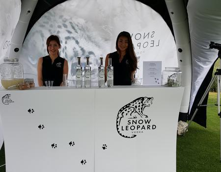 Snow Leopard Vodka Inflatable Sampling Tent