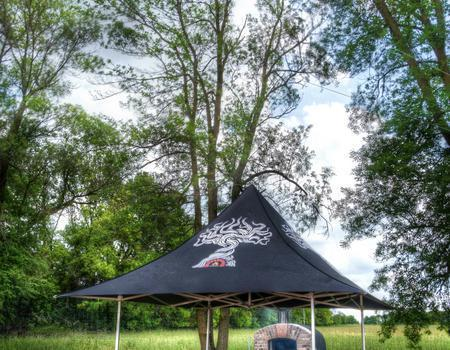 Twisted Oak Custom Tent for Mobile Pizza Shop