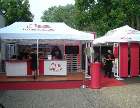Wella Mobile Store Experience with Custom Tents