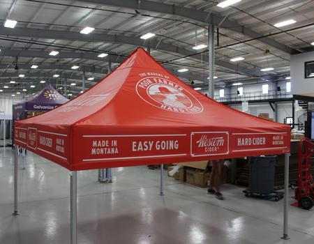examples of custom made tents for outdoor events and marketing