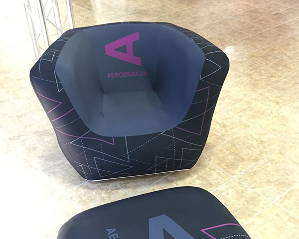 Custom printed AIRFRAME Chair.