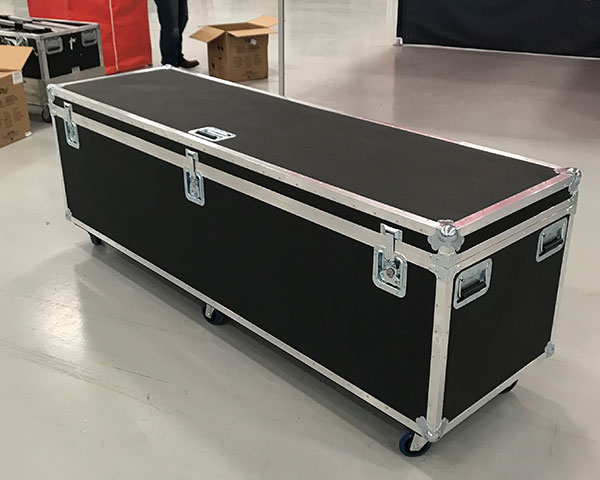A view of the TentCraft hard transport road case.