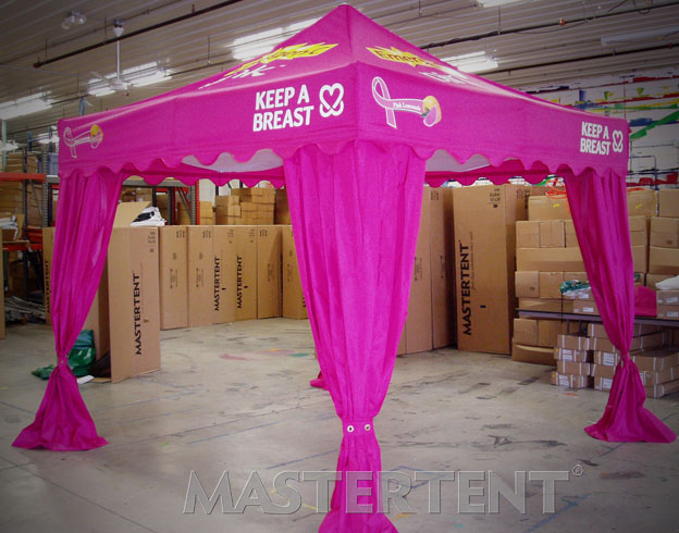 Emergen-C Keep A Breast - 10x10 Mastertent with Leg Curtains