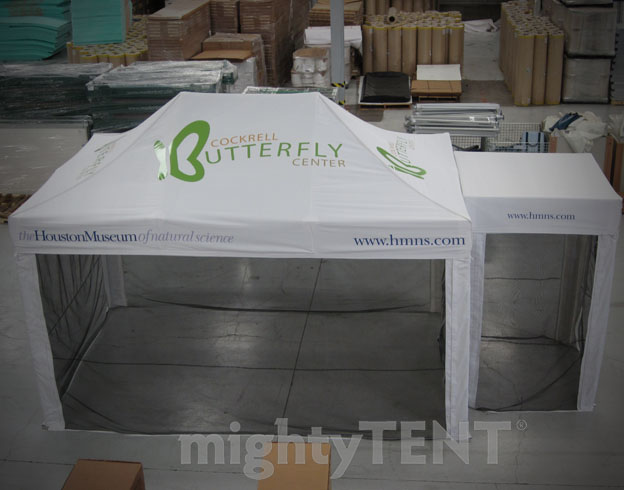 Houston Museum of Natural Science - 5x5 Mastertent and 10x15 MightyTent
