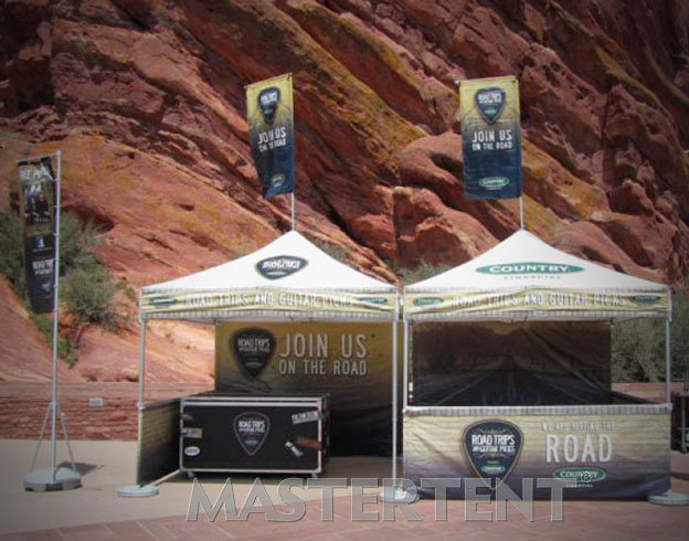 Train & Country - 10x10 MasterTent with Peak Flag