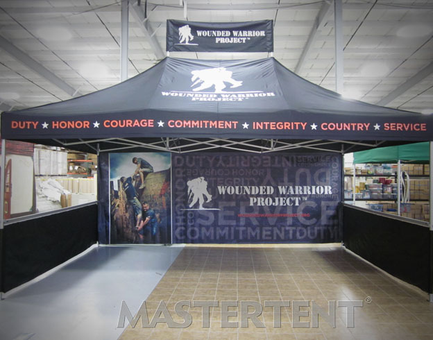 Wounded Warrior - 13x20 MasterTent with Peak Banner