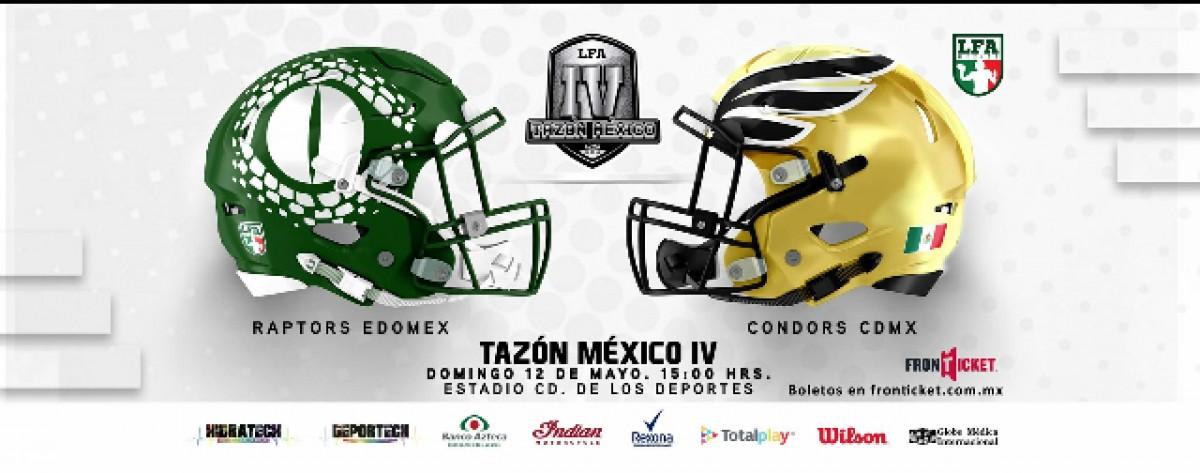 Listo el Tazón México IV con los mejores equipos de la LFA:  Raptors y Condor