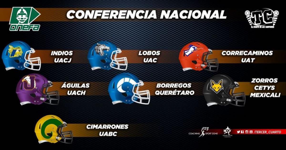 Calendario Conferencia Nacional Liga Mayor ONEFA 2021