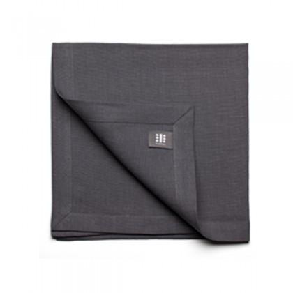 Teroforma Slate Gray Pure Linen Napkin